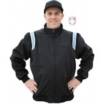 Smitty Major League Style Fleece Lined Umpire Jacket - Black and Polo Blue