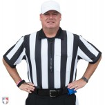 "Smitty 2 1/4"" Stripe Body Flex Short Sleeve Football Referee Shirt"