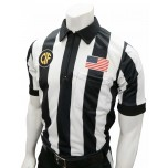 "California (CIF) 2 1/4"" Stripe Body Flex Short Sleeve Football Referee Shirt"