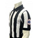 "Kansas (KSHSAA) 2 1/4"" Stripe Body Flex Short Sleeve Football Referee Shirt"