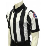 "Missouri (MSHSAA) 2 1/4"" Stripe Body Flex Short Sleeve Football Referee Shirt"