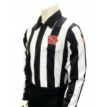 "Iowa (IHSAA) 2 1/4"" Stripe Foul Weather Football Referee Shirt"
