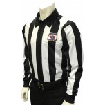 "Nebraska (NSAA) 2 1/4"" Stripe Long Sleeve Football Referee Shirt"
