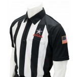 "Alabama (AHSAA) 2 1/4"" Stripe Body Flex Short Sleeve Football Referee Shirt"