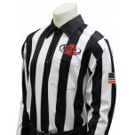 "Mississippi (MHSAA) 2"" Stripe Foul Weather Football Referee Shirt"