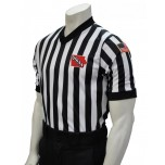 "Iowa (IHSAA) 1"" Stripe Body Flex Men's V-Neck Referee Shirt"
