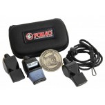 Fox 40 3-Pack Referee Whistle Kit With Lanyard, Flip Coin and Case